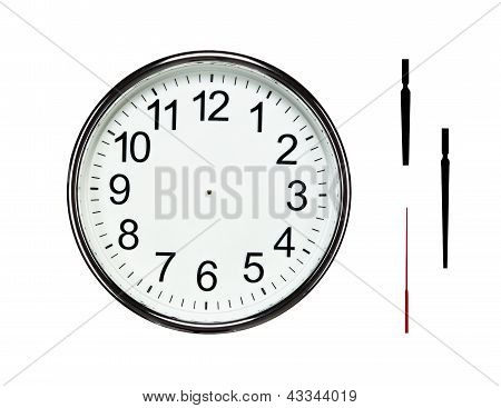 Blank Silver Clock With Clipping Paths
