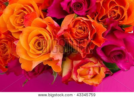 rose bouquet close up