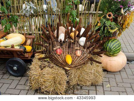 Handmade Hedgehog Autumn Harvest Goodie