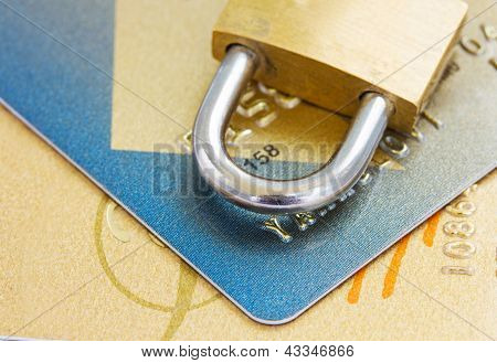 plastic cards  security concept