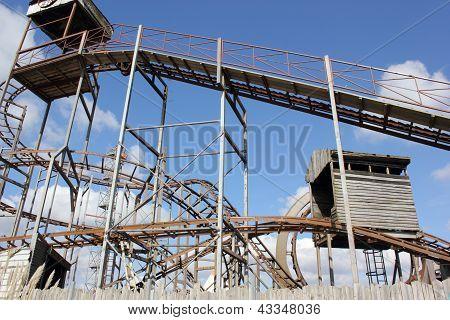 Old fairground ride