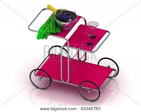 Trolley On Wheels For A Hotel