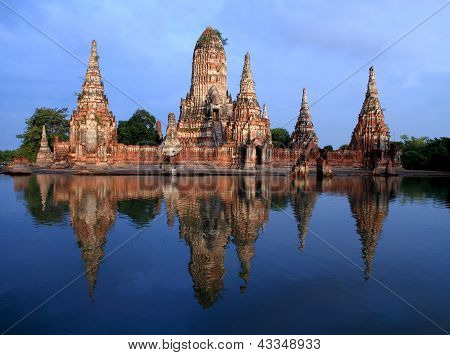 Wat Chai Wattana Ram Is Temple In Thailand.