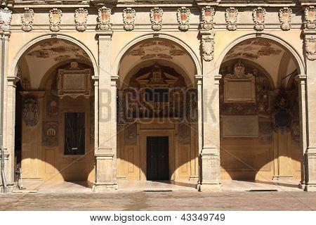 Archiginnasio of Bologna. Emilia-Romagna. Italy