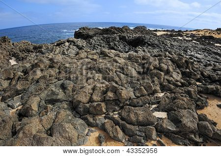 Volcanic Rock Coast, Graciosa Island, Canary Islands, Spain