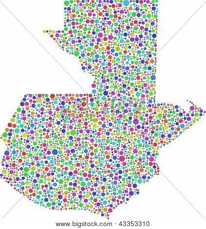Decorativo mapa de Guatemala