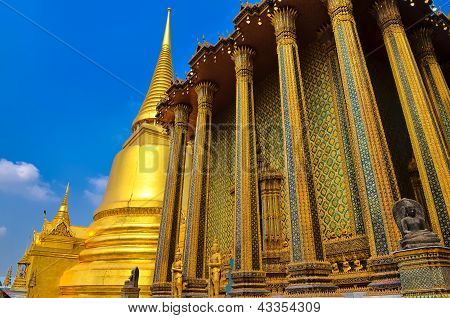 Detail Of Temple In Grand Palace Temple In Bangkok