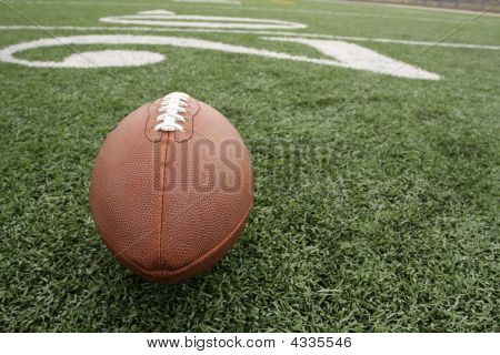 American Football Near The 20 Yard Line