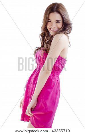 Cute happy girl smiling