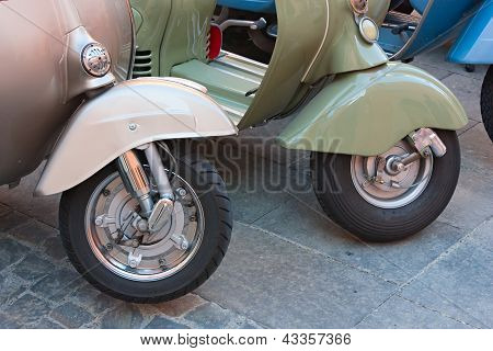 Vintage Scooter Wheels