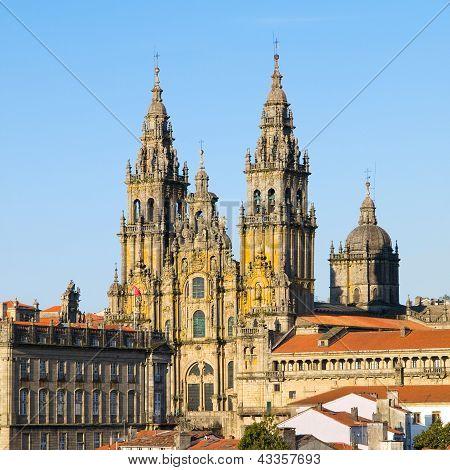 Santiago De Compostela, Spain - March 21.: Cathedral Of Santiago De Compostela On 21 March 2009 In S