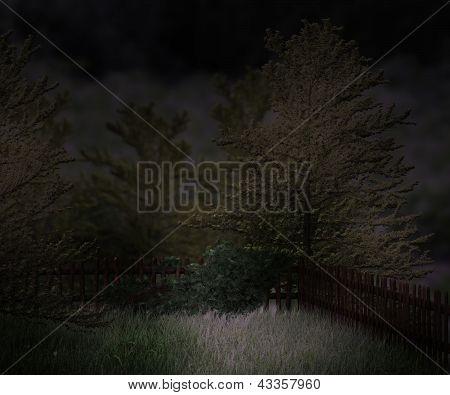 Dark Garden Premade Background