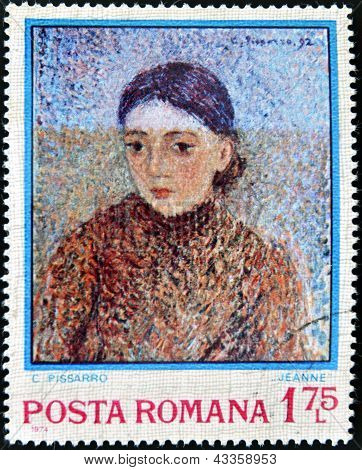 : A stamp printed by Romania shows picture