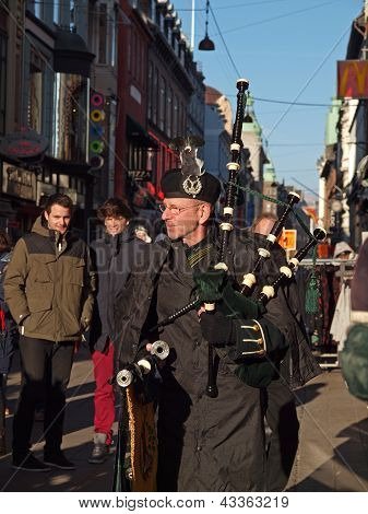 Bagpiper At Saint Patrick's Day
