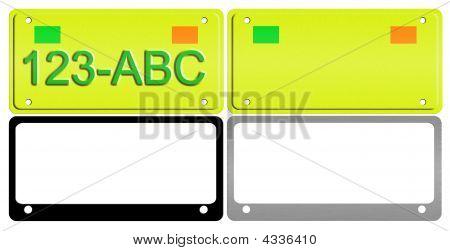 License Plate Illustration Set