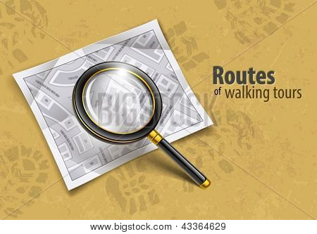 loupe magnifying glass tool vector illustration EPS10. Transparent objects used for shadows and lights drawing. Vector Illustration.