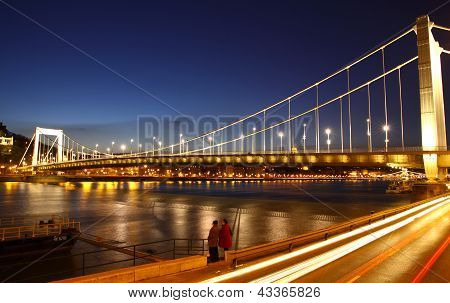 View To Elisabeth Bridge And Dunabe River in Budapest