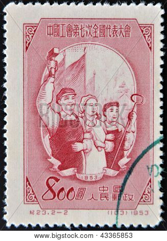 A stamp printed in china dedicated to Chinese popular revolution