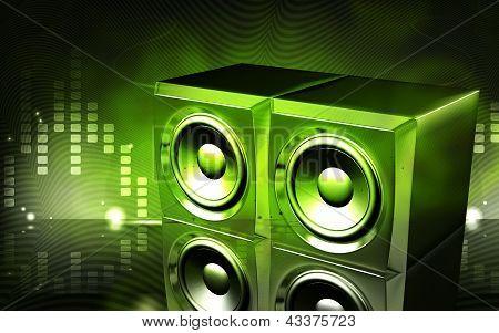 Loud speaker set