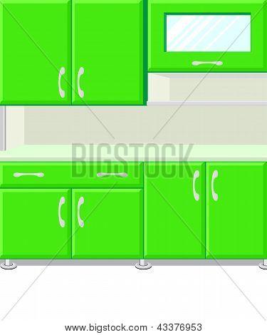 Vektor-Illustration Küche mit Küche-Kabinette