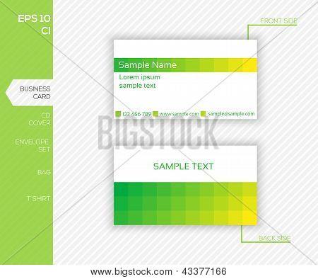 Design de identidade corporativa para empresas - modelo de Design moderno cartão abstrato verde - Vector ilustr