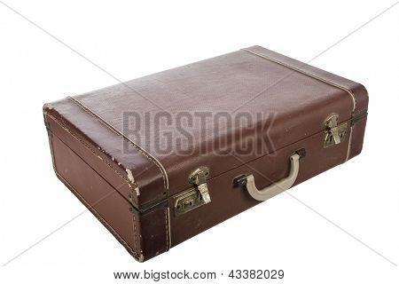 Traje Vintage caso aislado en blanco