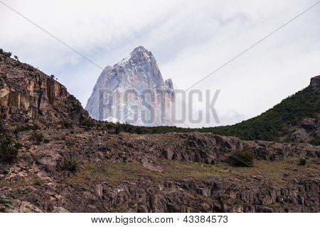 Mount Fitz Roy View From El Chalten Silhouette