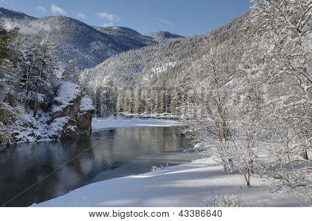 Similkameen River Winter, Britisch-Kolumbien