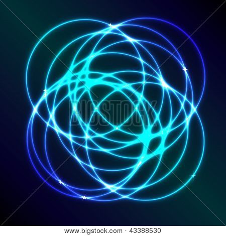 Abstract Background With Blue Plasma Circle Effect