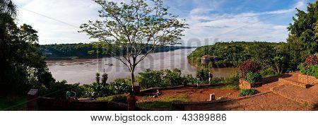 The Iguacu River Close To The Falls