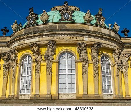 Sanssouci Close At Crystal Blue Sky