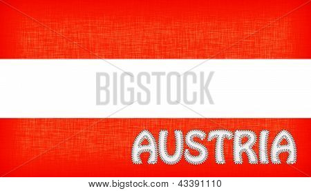 Flag Of Austria With Letters