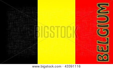 Flag Of Belgium With Letters