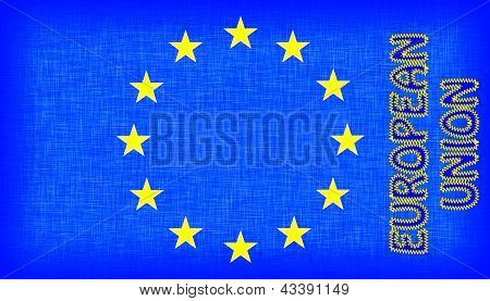 Flag Of The Eu With Letters