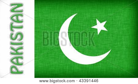 Flag Of Pakistan With Letters