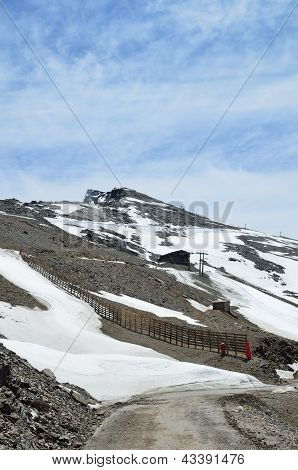 Spring Slope Of Veleta In The Sierra Nevada