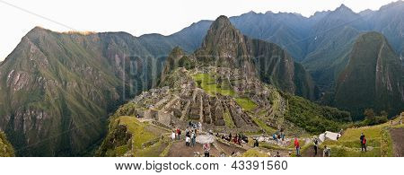 Machu Picchu Panorama Few Persons