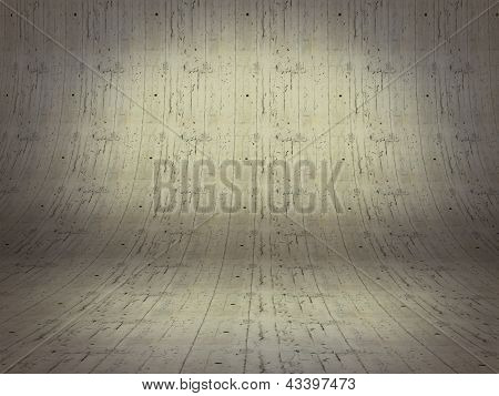 Realistic 3D Presentation Empty Room - Floor Cement Background Texture
