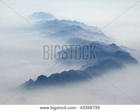Blue Mountains In The Mist