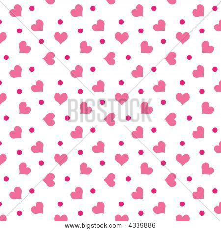 Valentine Hearts With Dots