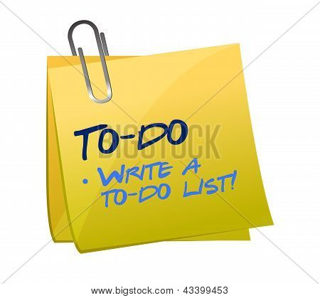 To-do List Concept On A Post-it