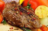 Grilled Beef And Vegetables