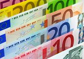 stock photo of currency  - European banking and currency financial concept - JPG