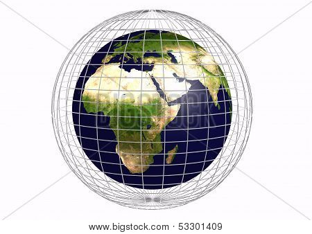 Earth With A Grid