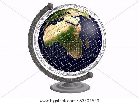 Globe With A Grid