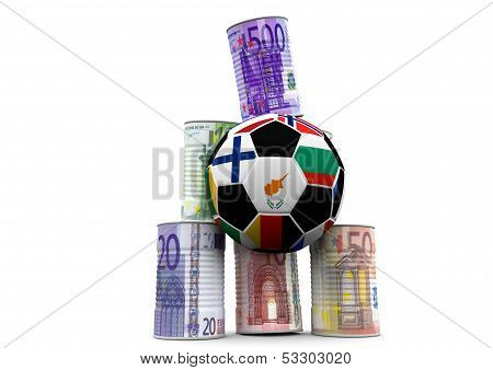 A Soccer To Shoot Money Cans