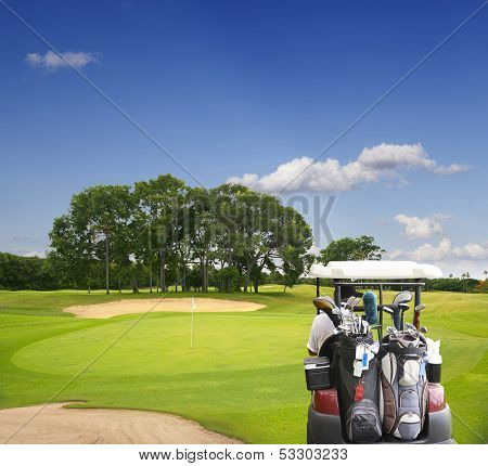 The island of Bali. Golf Courses