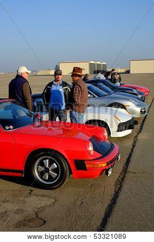 Porsches on Display