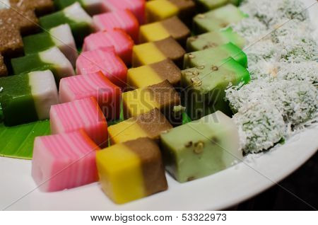 Malay Colourful Traditional Dessert