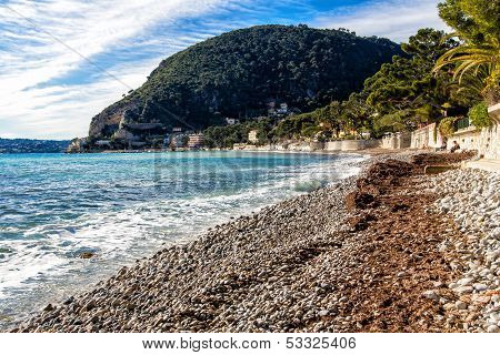 Beach Of Eze Sur Mer In South France